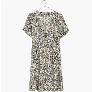 Madewell Button Day Dress in Blossoming Vines